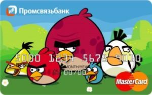 Angry Birds от Промсвязь банка