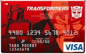 Кредитная карта с изображением комикса Трансформеры;