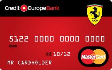 Карта Ferrari Кредит Европа Банк